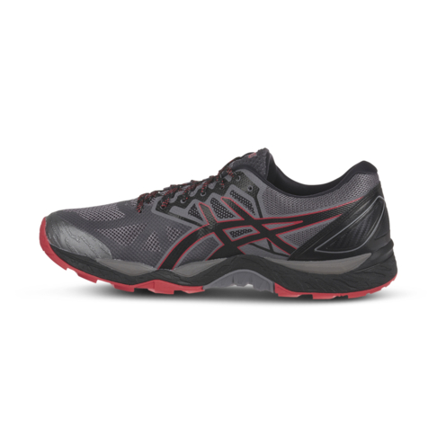 brand new 72f9e cfc8f Men s Asics Gel Fujitrabuco 6 Black Red Shoe