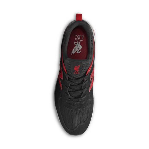 Men s New Balance 574 Black Red Liverpool Shoe c9f7755a0