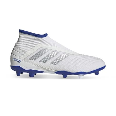 on sale 0e134 bb7fb Men s adidas Predator 19.3+ Laceless FG White Blue Boots