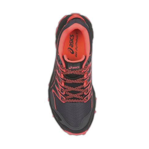 7abaec3026d Women's Asics Gel-Fujitrabuco 7 Black/Coral Shoe