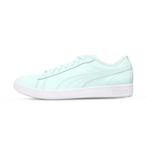 6fbb4509 Women's Puma Smash V2 Leather Aqua/White Shoe