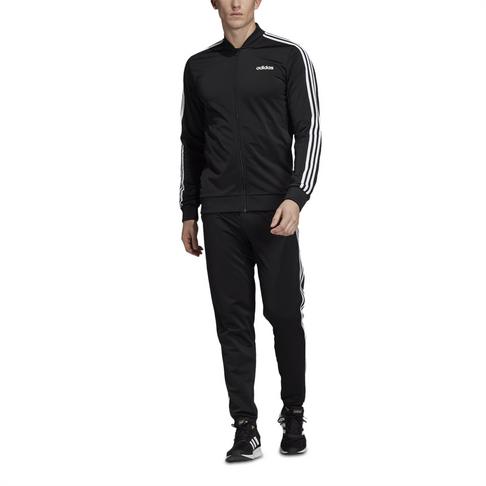 dd5066c221b6 Men's adidas Back 2 Basics 3-stripes Black Tracksuit