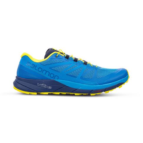 promo code 20e86 b8c9d Men's Salomon Sense Ride Blue/Lime Shoe