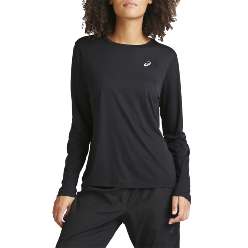 ac121451 Women's Asics Silver Long Sleeve Black Tee