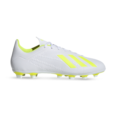 db8692eee331 Men's adidas X 18.4 FG White/Yellow Boots