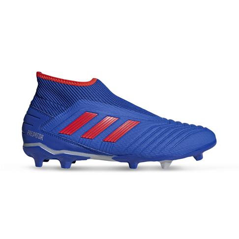 check out d94b4 0fb2b Men's adidas Predator 19.3+ Laceless FG Blue/Silver Boots
