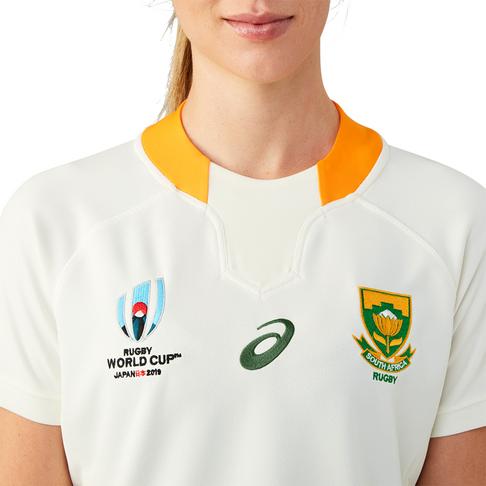 Women's Asics Springbok Rugby World Cup 2019 Replica Away Jersey