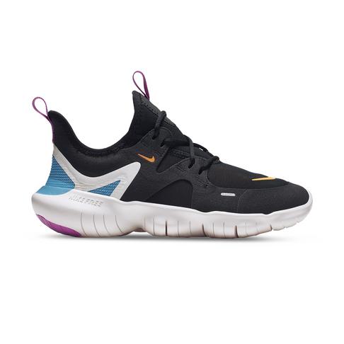 check out a241c d4437 Junior Grade School Nike Free RN 5.0 Black/Orange/Blue Shoe