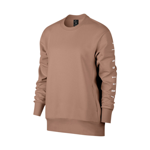 b62725565de1e Women's Nike Dri-Fit Long-Sleeve Rose Gold GRX Training Top