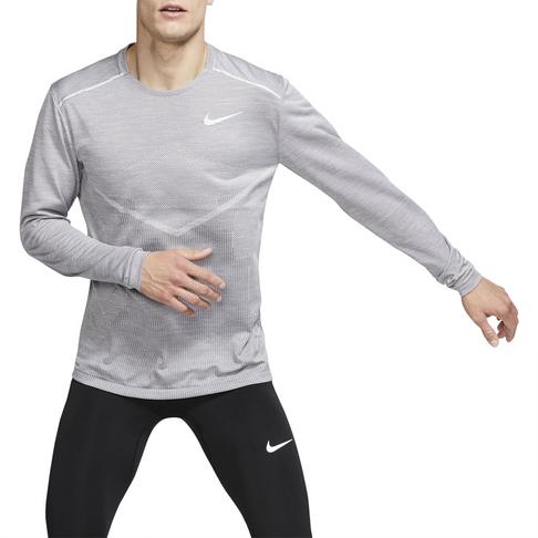 8c78dd38 Men's Nike Tech Knit Ultra Grey Running Top