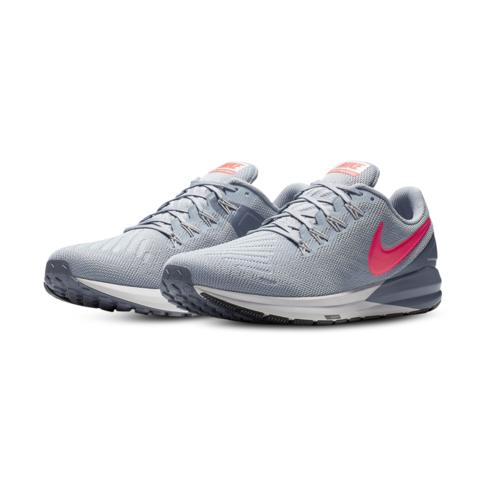 half off bab2b 55b38 Men's Nike Air Zoom Structure 22 Grey/Red Shoe