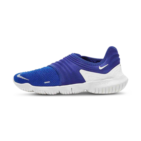 online store 35417 df298 Men s Nike Free 3.0 RN Flyknit Royal Blue White Shoe