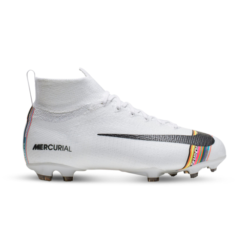 size 40 381fe 36c20 Junior Nike CR7 Superfly 6 Elite FG White/Black