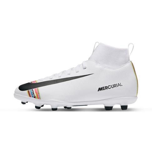 san francisco 3269e e1956 Junior Nike CR7 Superfly 6 Club MG White/Black Boots