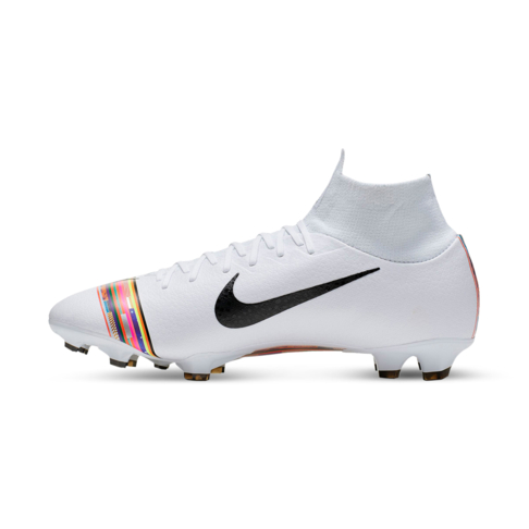 huge selection of dab54 a3987 Men's Nike CR7 Superfly 6 Pro FG White/Black Boots