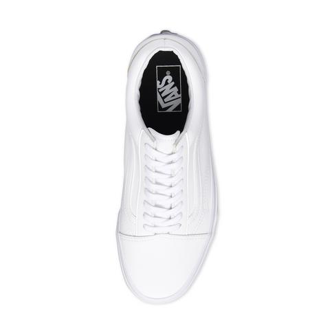 8b8a23b8 Junior Grade School Vans Old Skool White Shoe