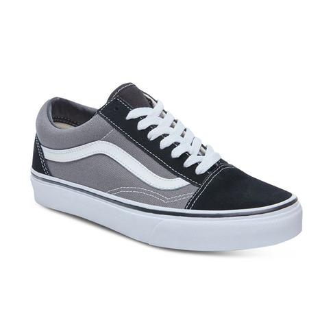 1151f8d42e54 Junior Grade School Vans Old Skool Black Grey Shoe