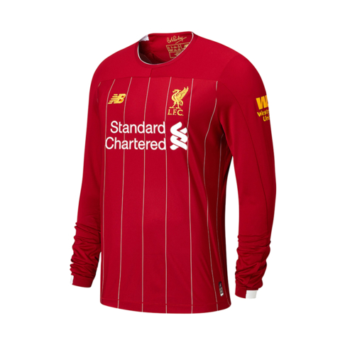 dc8d2618879b2 Men's New Balance Liverpool Long Sleeve Home Jersey 2019/20