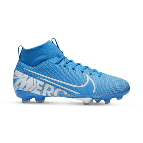 new concept e3a45 fcbc0 Junior Nike Mercurial Superfly 7 Academy FG Blue/White Boots