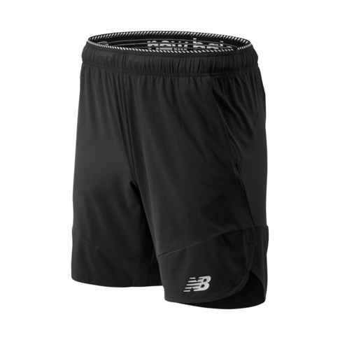 quality design 686bb b7be5 Men's New Balance Right Weight Black Woven Shorts