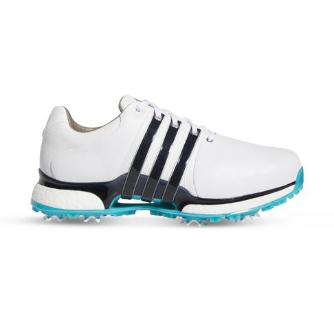mieux aimé 0ea6d 206ff Men's adidas Tour 360 XT White/Blue Golf Shoe