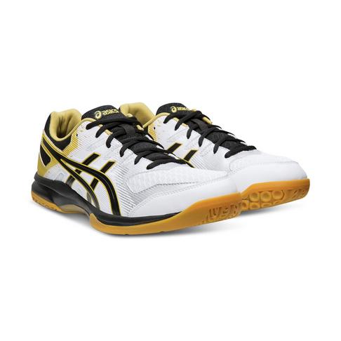 ostaa hyvää laadukas suunnittelu halpa hinta Men's Asics Gel Rocket 9 White/Black/Gold Shoe