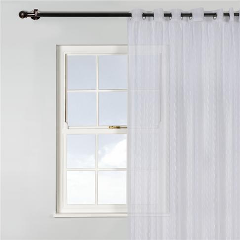 Curtain Eyelet Slub Voile Single 230x250cm