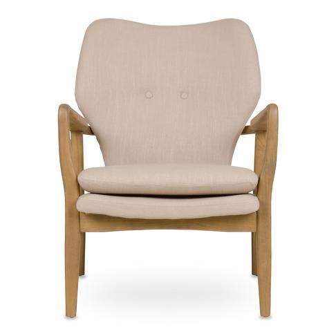 Retro Wooden Chair Linen