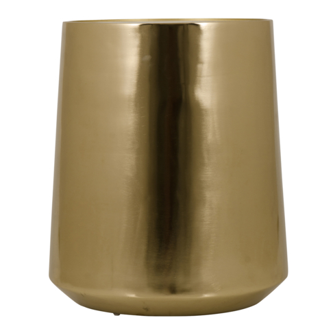 Brass Drum Wmarble Top Side Table - Brass drum side table
