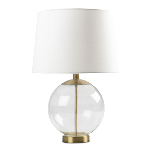 Table Lamp Set Glass Ball 56cm