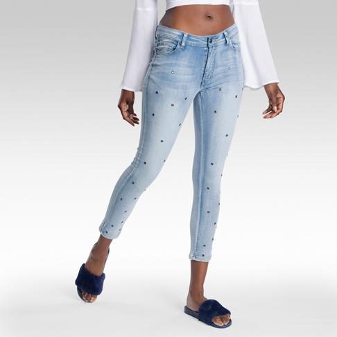 c14dfdbbac0 Eyelet Light Wash Skinny Denim Jeans