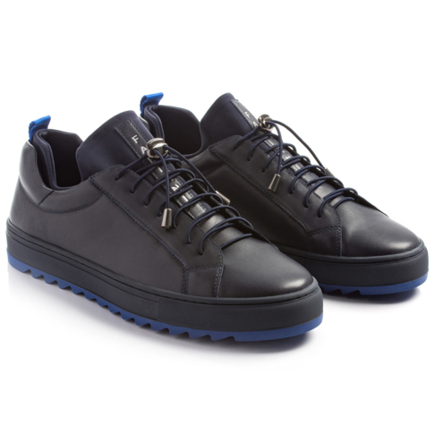 394a790e2008bf LEATHER COURT SNEAKER WITH WAFFLE SOLE