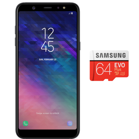 outlet store ee8d4 b4103 SAMSUNG A6 PLUS + 64G SD CARD