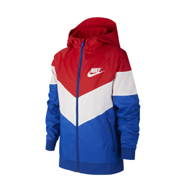 actualizar Labe Accor  Boys Nike Sportswear Windrunner Red/Blue/White Jacket