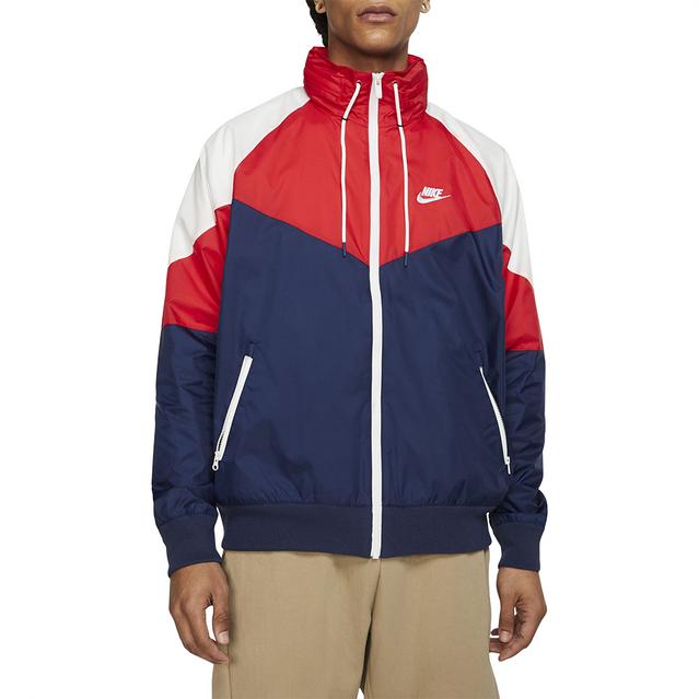 pellizco Alienación emprender  Men's Nike Windrunner Navy/Red Hooded Jacket